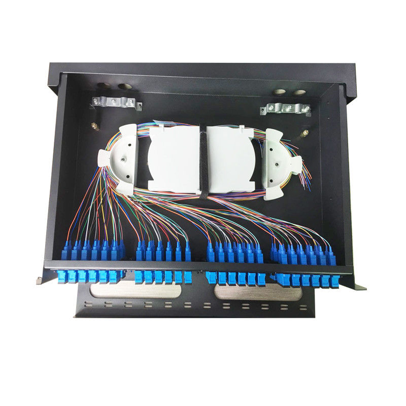 Rack Mounted MPO/MTP Fiber Optic Patch Panel 2U 3U 19 Inch 48/96 Fiber SPECC Material
