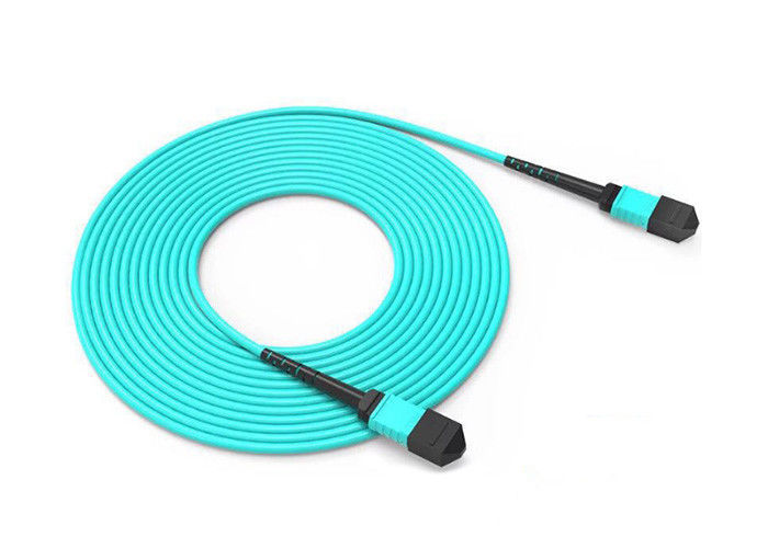 MPO / MTP Male Or Female Trunk Cable , OM3 / OM4 Patch Cord 8 / 12 / 24 Fiber